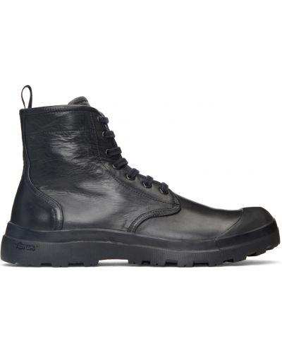 Черные ботильоны на каблуке Officine Creative