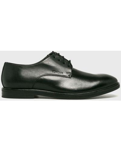 Туфли на шнуровке текстильные черные Strellson