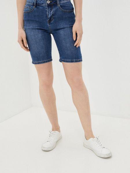 Синие джинсовые шорты со стразами G&g