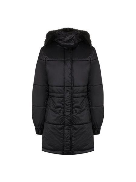 Куртка с капюшоном утепленная черная Emporio Armani