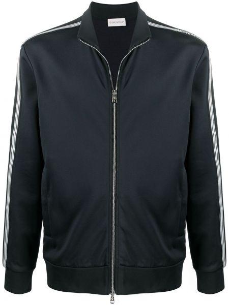 Prosto czarny długa kurtka z kieszeniami z długimi rękawami Moncler