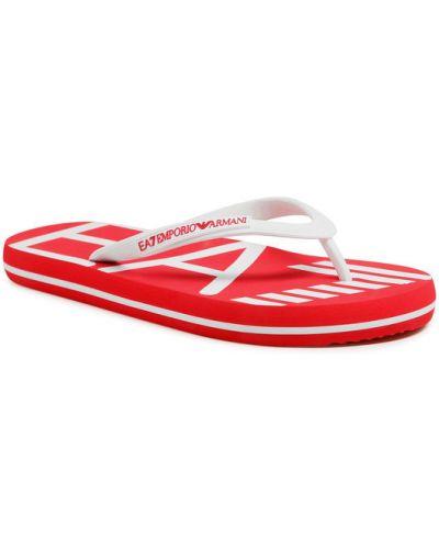 Sandały japonki - białe Ea7 Emporio Armani