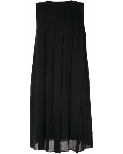 Плиссированное черное платье миди Knott