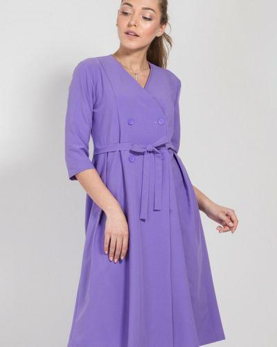 Однобортное фиолетовое платье Bessa