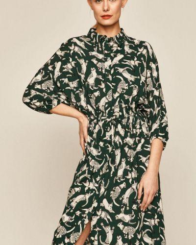 Расклешенное повседневное платье миди с вырезом Medicine