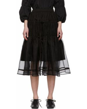 Черная юбка на резинке из фатина Renli Su