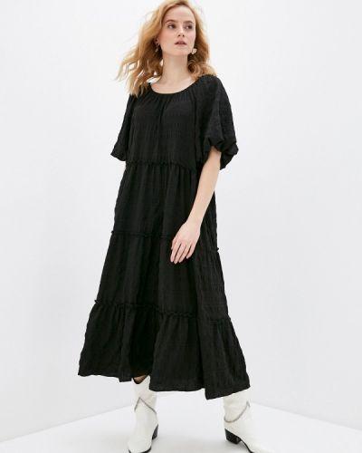 Прямое черное платье Incity