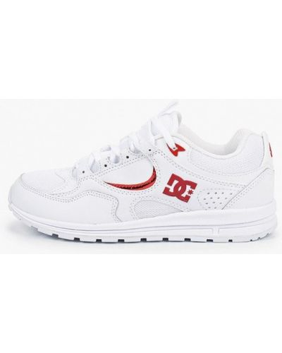 Белые пинетки из натуральной кожи Dc Shoes