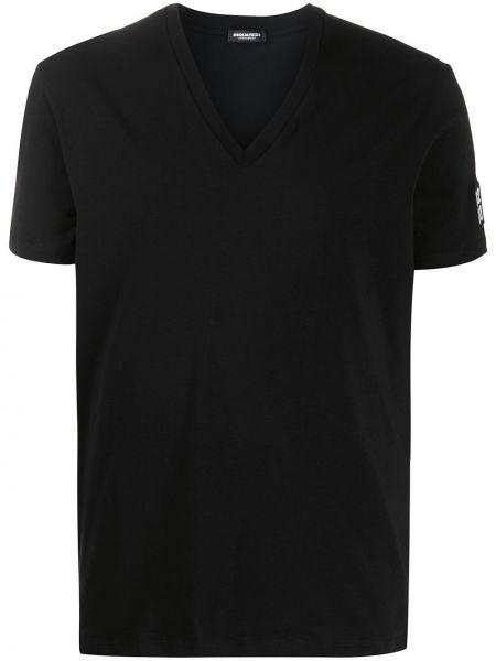 Koszula krótkie z krótkim rękawem rozciągać z logo Dsquared2