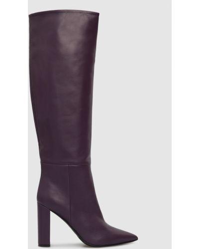 Кожаные сапоги - фиолетовые Babe Pay Pls
