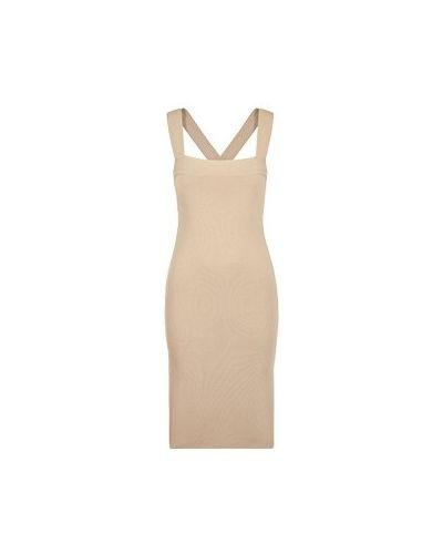 Платье из вискозы - бежевое P.a.r.o.s.h.