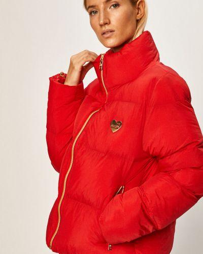 Куртка с капюшоном стеганая укороченная Love Moschino