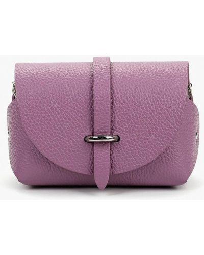 Кожаная сумка через плечо фиолетовый Madeleine