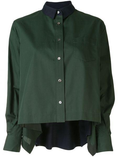 Топ асимметричный зеленый Sacai
