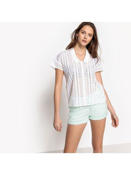 Рубашка с коротким рукавом с вышивкой хлопковая Mademoiselle R