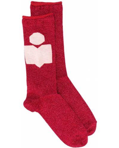 Красные носки в рубчик Isabel Marant