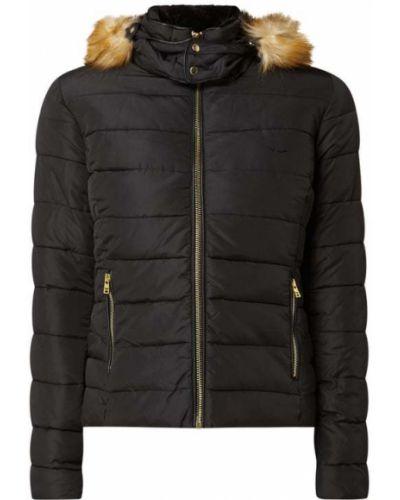 Czarna kurtka pikowana z kapturem Ltb