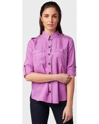 Фиолетовая рубашка с длинным рукавом Tom Tailor