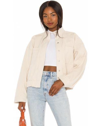 Хлопковая джинсовая куртка - бежевая L'academie