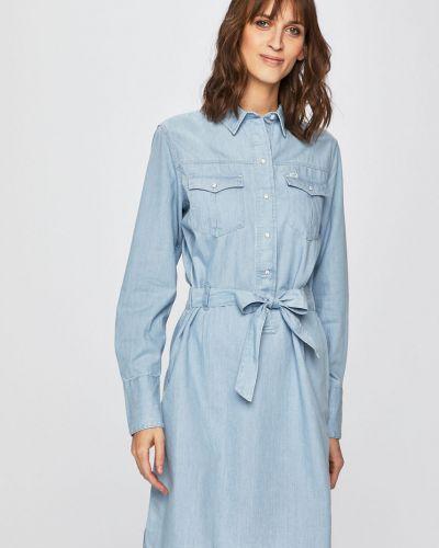 Джинсовое платье миди - синее Lee