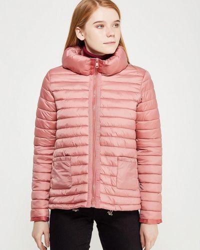 Утепленная куртка осенняя розовая Iwie