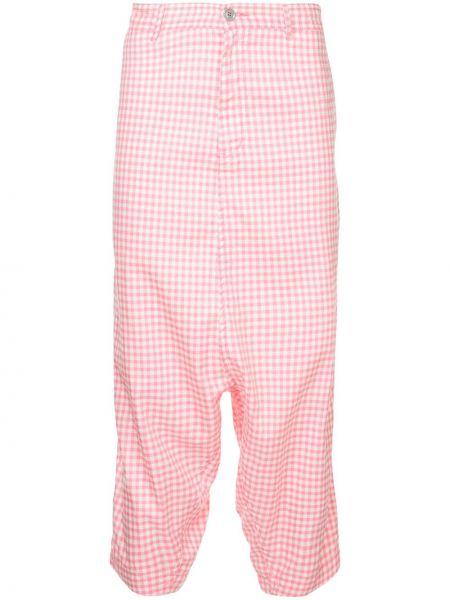Розовые брюки свободного кроя винтажные с поясом Comme Des Garçons Pre-owned
