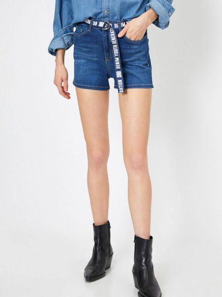 Синие джинсовые шорты со стразами Koton