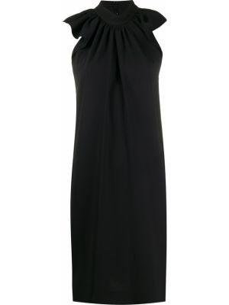 Платье со складками черное Victoria, Victoria Beckham