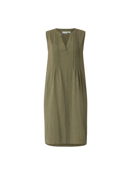 Zielona sukienka rozkloszowana bawełniana Fransa