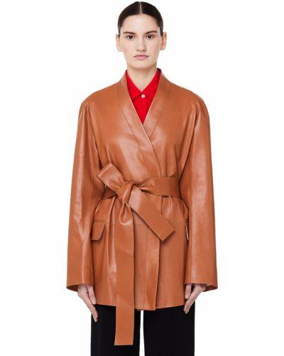 Кожаная куртка с карманами с подкладкой The Row