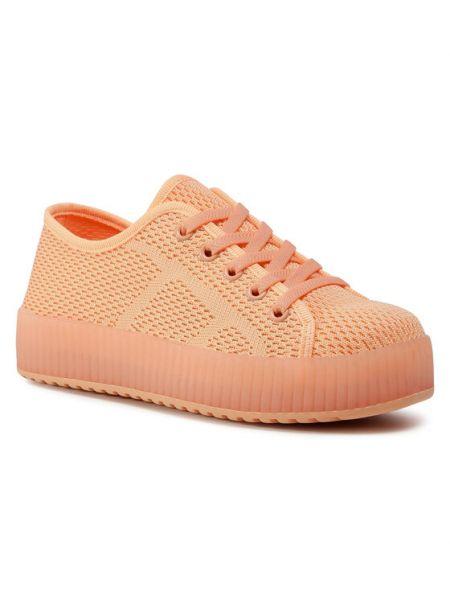 Pomarańczowe sneakersy Nelli Blu