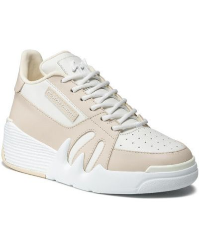 Beżowe sneakersy Giuseppe Zanotti