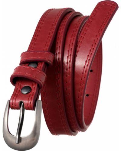 Spodni czerwony z paskiem skórzany pasek wąskie cięcie 4u Cavaldi