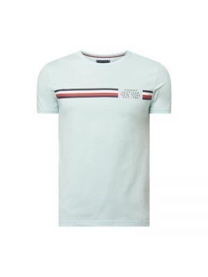 T-shirt bawełniana - turkusowa Tommy Hilfiger