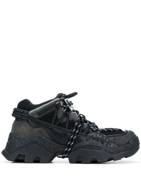 Высокие кроссовки черные сетчатые Kenzo