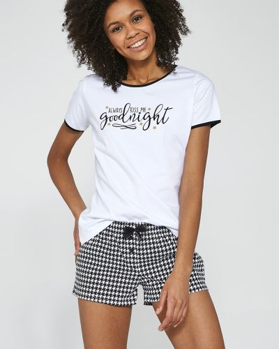 Пижама с шортами - черная Cornette