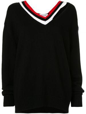 Свободные шерстяной черный свитер свободного кроя Monse