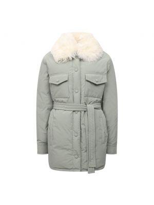 Пуховая куртка - зеленая Yves Salomon