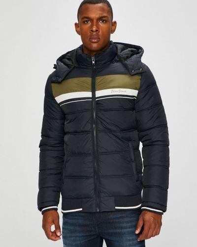 Утепленная куртка с капюшоном темно-синий Blend