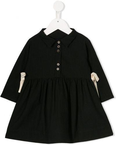Klasyczna czarna sukienka mini z długimi rękawami Little Creative Factory Kids