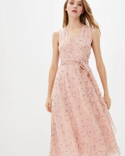Розовое платье с запахом German Volf