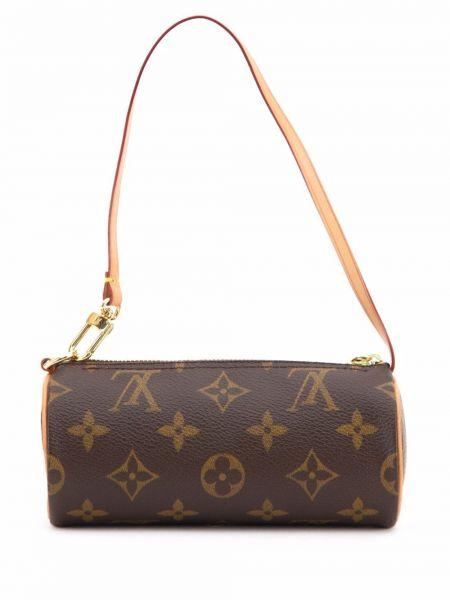 Коричневая кожаная сумка Louis Vuitton