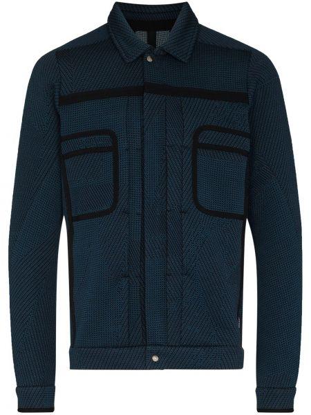 Niebieska klasyczna koszula bawełniana z długimi rękawami Byborre