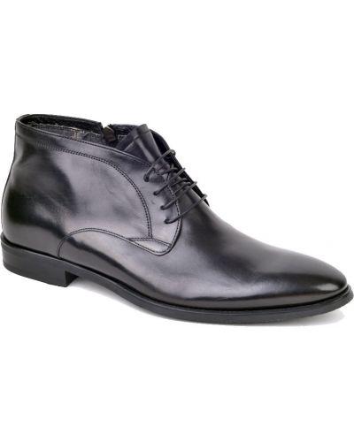 Кожаные ботинки осенние черные Fabi
