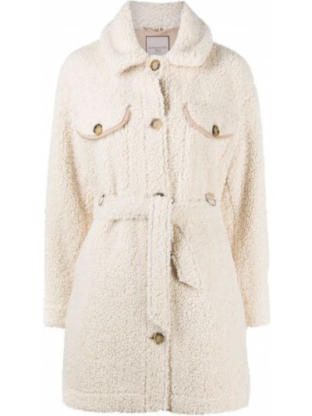 С рукавами пальто на пуговицах из овчины Urbancode