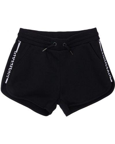 Хлопковые черные шорты с карманами Givenchy