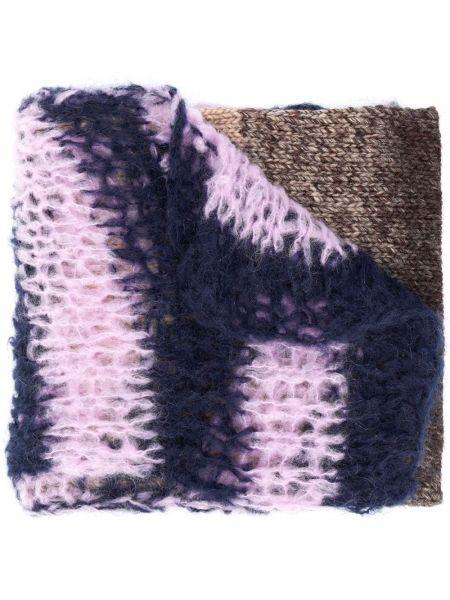 Prążkowany brązowy szalik wełniany Raf Simons
