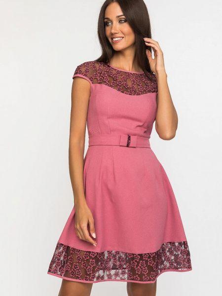Платье розовое прямое Gloss