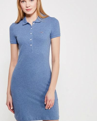 Синее платье Lacoste