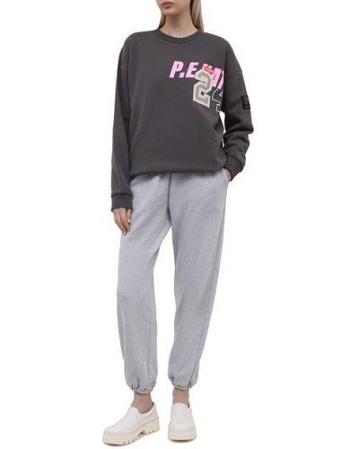 Хлопковые брюки - серый P.e Nation